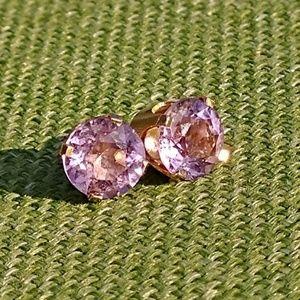 Jewelry - Rose de France Amethyst 14k stud earrings